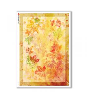 FLOWERS-0124. Papel de Arroz flores para decoupage.